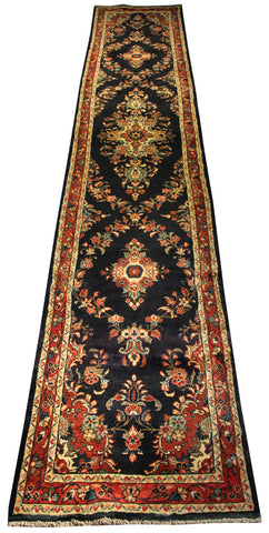 "22148 - Hamadan Handmade/Hand-Knotted Persian Rug/Carpet Authentic/Size 15'7"" x 2'6"""
