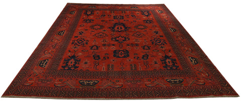 "22584 - Khal Mohammad Hand-Knotted/Handmade Afghan Rug/Carpet/Nomadic Authentic/Size 13'5"" x 10'3"""