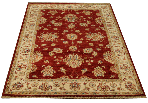 22330 - Chobi Ziegler Hand-Knotted/Handmade Afghan Rug/Carpet Tribal/Nomadic Authentic