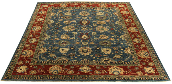 22278 - Chobi Ziegler Hand-knotted/Handmade Afghan Rug/Carpet Traditional Authentic
