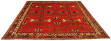 "22149 - Shiraz Hand-Knootted/Handmade Persian Rug/Carpet Tribal/Nomadic Authentic/Size 9'4"" x 7'4"""