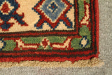 "22343 - Kazak Hand-Knotted/Handmade Afghan Tribal/Nomadic Authentic/Size 9'7"" x 2'6"""