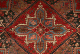22361 - Heriz Hand-Knotted/Handmade Persian Rug/Carpet Tribal/Nomadic Authentic