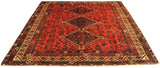 22139 - Shiraz Hand-Knotted/Handmade Afghan Rug/Carpet Tribal/Nomadic Authentic