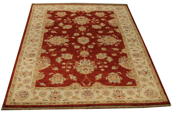 22325 - Chobi Ziegler Hand-knotted/Handmade Afghan Rug/Carpet Traditional Authentic