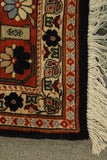 "22586 - Kazak Hand-Knotted/Handmade Afghan Tribal/Nomadic Authentic/Size 9'9"" x 6'9"""