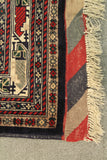 "22583 - Kazak Hand-Knotted/Handmade Afghan Tribal/Nomadic Authentic/Size 9'6"" x 6'7"""