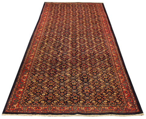 "22190 - Hamadan Hand-Knotted/Handmade Persian Rug/Carpet Traditional Authentic/Size 9'9"" x 3'9"""