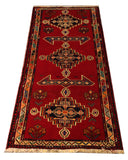 "22240 - Shiraz Hand-Knotted/Handmade Persian Rug/Carpet Traditional Authentic/Size 5'9"" x 2'3"""