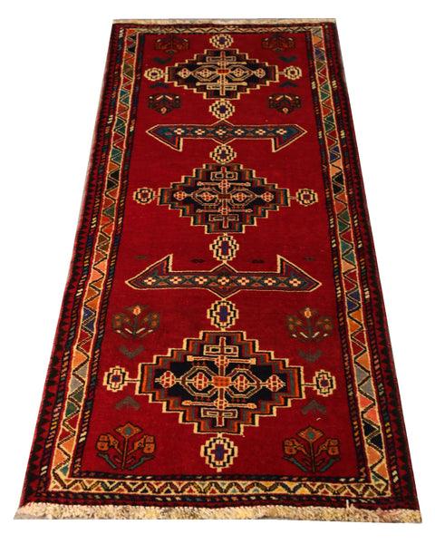 22240 - Shiraz Hand-Knotted/Handmade Persian Rug/Carpet Traditional Authentic