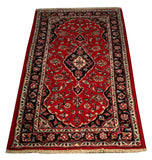 "22245 - Kashan Handmade/Hand-Knotted Persian Rug/Carpet Authentic/Size 4'8"" x 2'7"""