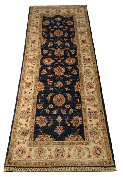 22319 - Chobi Ziegler Hand-knotted/Handmade Afghan Rug/Carpet Traditional Authentic