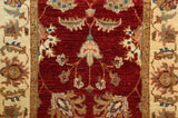 "22310 - Chobi Ziegler Hand-knotted/Handmade Afghan Rug/Carpet Traditional Authentic/Size 6'8"" x 2'0"""
