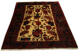 "22127 - Hamadan Hand-Knotted/Handmade Persian Rug/Carpet Traditional Authentic/Size 5'1"" x 3'4"""