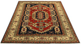 22579 - Kazak Hand-Knotted/Handmade Afghan Tribal/Nomadic Authentic