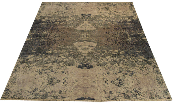 "22270 - Indian Hand-knotted/Hand-weaved Rug/Carpet Authentic/Classic/Contemporary/Modern/Size 9'8"" x 6'4"""