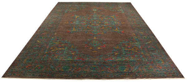 22335 - Chobi Ziegler Hand-Knotted/Handmade Afghan Rug/Carpet Tribal/Nomadic Authentic