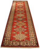 "22384 - Kazak Hand-Knotted/Handmade Afghan Tribal/Nomadic Authentic/Size 9'11"" x 2'8"""
