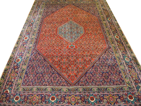 13358-Bidjar Hand-knotted/Handmade Persian Rug/Carpet Traditional Authentic