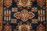 "22470 - Kazak Hand-Knotted/Handmade Afghan Tribal/Nomadic Authentic/Size 5'8"" x 4'2"""