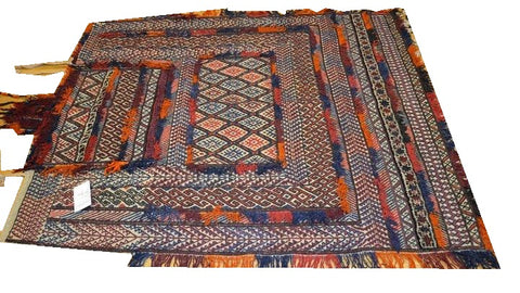15151-Sumac Horse Blanket Hand-Knotted/Handmade Persian Rug/Carpet Tribal/Nomadic Authentic