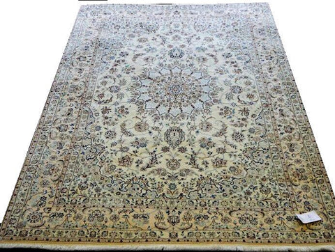 14581-Nain Hand-Knotted/Handmade Persian Rug/Carpet Traditional Authentic