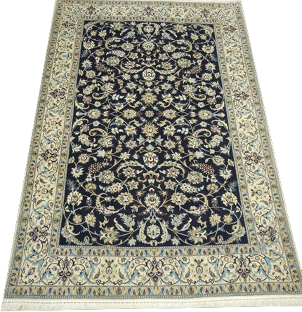 "15059 - Nain Persian Hand-Knotted Authentic/Traditional Carpet/Rug Signed-Piece 6'3"" x 4'3"""