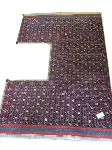 15135-Turkmen Hand-knotted/Handmade Persian Rug/Carpet Tribal/Nomadic Authentic 9'2''x6'3''