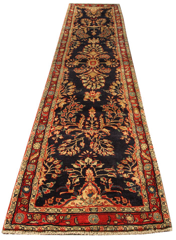 "22203 - Hamadan Hand-Knotted/Handmade Persian Rug/Carpet Traditional Authentic/Size 10'4"" x 2'1"""
