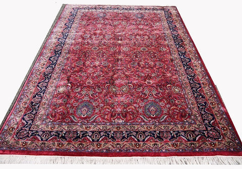 16047 - Sarough Hand-Knotted/Handmade Indian Rug/Carpet Traditional Authentic