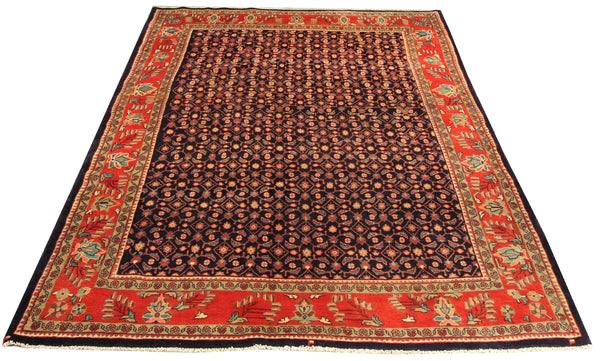 22152 - Sarough Hand-Knotted/Handmade Indian Rug/Carpet Traditional Authentic