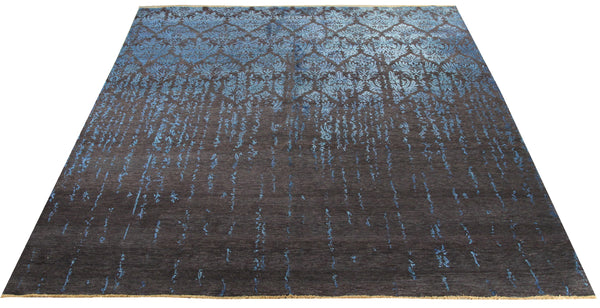 22264 - Indian Hand-knotted/Hand-weaved Rug/Carpet Authentic/Classic/Contemporary/Modern