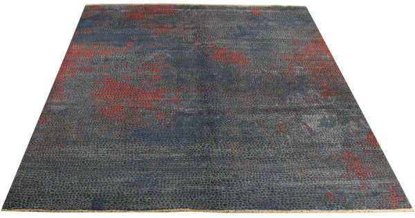 "22259 - Indian Hand-knotted/Hand-weaved Rug/Carpet Authentic/Classic/Contemporary/Modern/Size 9'8"" x 7'7"""
