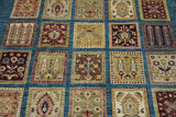 19123-Chobi Ziegler Hand-Knotted/Handmade Afghan Rug/Carpet Tribal/Nomadic Authentic