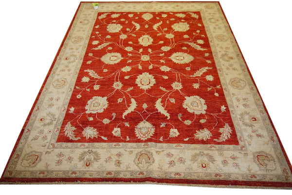 19227-Chobi Ziegler Hand-Knotted/Handmade Afghan Rug/Carpet Traditional Authentic