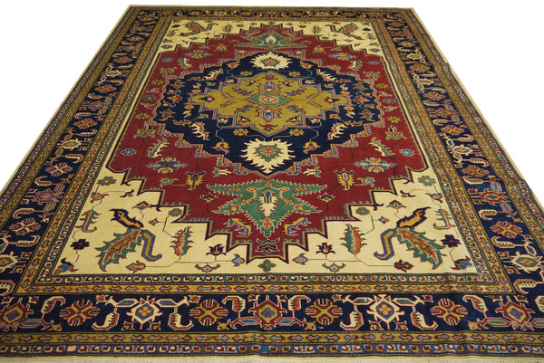 19363-Royal Shirvan Handmade/Hand-knotted Afghan Rug/Carpet Tribal/Nomadic Authentic