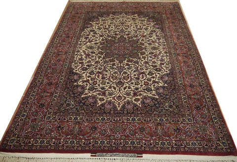 "19415-Isfahan Seirafian Hand-Knotted/Handmade Persian Rug/Carpet Tribal/Nomadic Authentic 7'11"" x 5'5"""