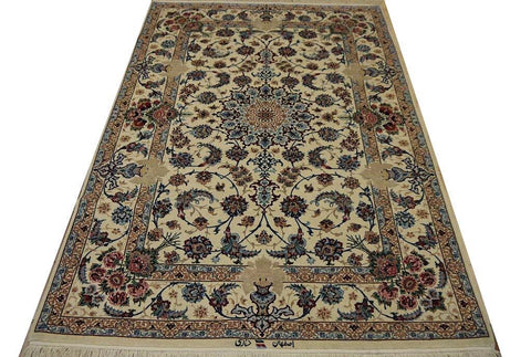 "19417-Isfahan Hand-Knotted/Handmade Persian Rug/Carpet Traditional Authentic7'5"" x 4'9"""