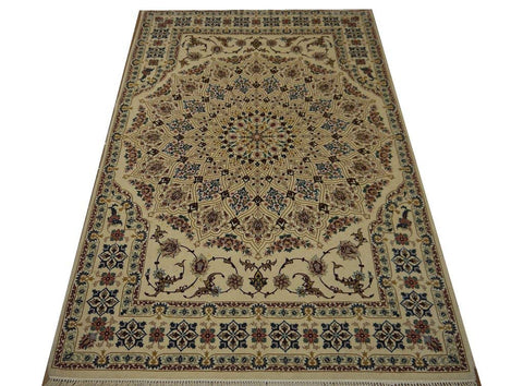 19418-Isfahan Hand-Knotted/Handmade Persian Rug/Carpet Traditional Authentic6'10''x4'4'