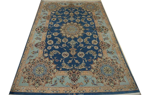 19419-Isfahan Hand-Knotted/Handmade Persian Rug/Carpet Traditional Authentic 7'5''x4'8''
