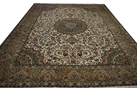 "19451 - Tabriz Handmade/Hand-Knotted Persian Rug/Carpet Authentic 12'10"" x 9'8"""