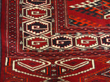 10664-Turkmen Tekke (Semi-Antique) Hand-knotted/Handmade Russian Rug/Carpet Tribal/Nomadic Authentic