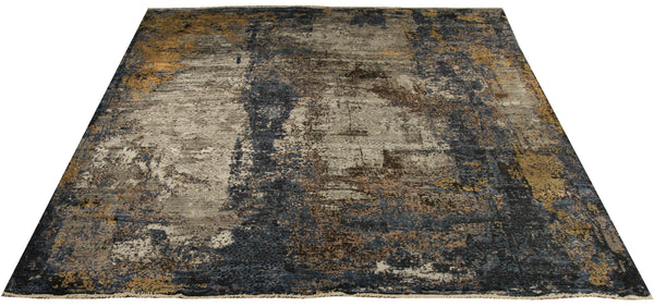 "22268 - Indian Hand-knotted/Hand-weaved Rug/Carpet Authentic/Classic/Contemporary/Modern/Size 10'0"" x  8'0"""