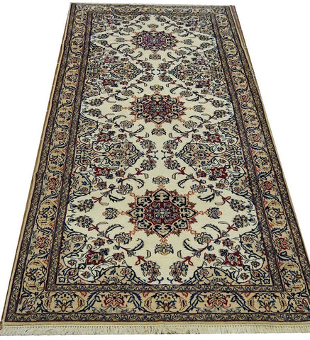 "19779-Nain Hand-Knotted/Handmade Persian Rug/Carpet Tribal Authentic 7'1""x 3'2"""