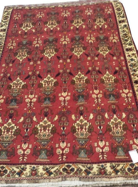 "19954-Shiraz Hand-Knotted/Handmade Persian Rug/Carpet Tribal/Nomadic Authentic8'2"" x 5'7"""