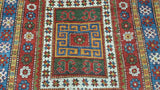 20882-Antique Kazak Handmade/Hand-Knotted Afghan Rug/Carpet Tribal/Nomadic Authentic