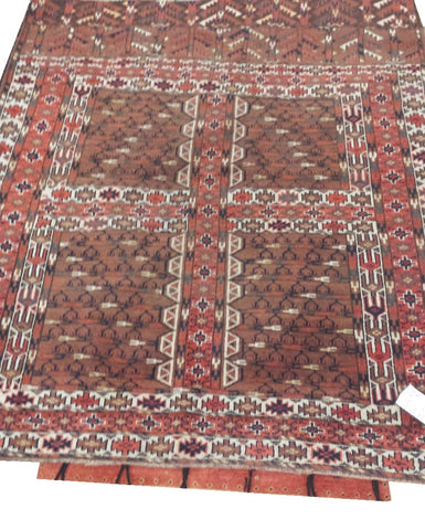 "15150-Hatchlu Handmade/Hand-Knotted Pakistan Rug/Carpet Tribal/Nomadic Authentic 4'8"" x 4'9"""