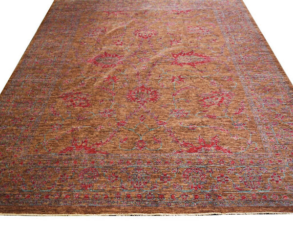 20558 -Chobi Ziegler Hand-knotted/Handmade Afghan Rug/Carpet Traditional Authentic