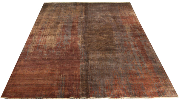 "22261 - Indian Hand-knotted/Hand-weaved Rug/Carpet Authentic/Classic/Contemporary/Modern/Size 11'6"" x 7'7"""