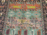 "15591-Gouchan Hand-Knotted/Handmade Persian Rug/Carpet Tribal/Nomadic  Authentic 4'9"" x 4'7"""